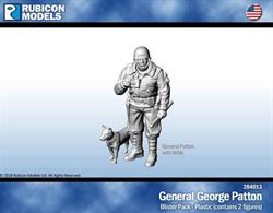 General George Patton with his dog, Willie.Comes with 25mm lip base.No of Parts: 7 pieces / 1 plastic sprue