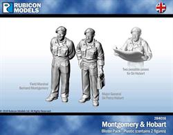 Field Marshal Bernard Montgomery and Major General Sir Percy Hobart. Sir Hobart comes with 2 possible poses.Two 25mm lip bases included.No of Parts: 8 pieces / 1 plastic sprue