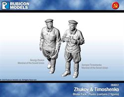 Georgy Zhukov and Semyon Timoshenko, both Marshal of the Soviet Union.Two 25mm lip bases included.No of Parts: 7 pieces / 1 plastic sprue