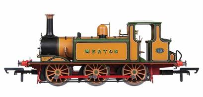 Hornby Centenary CollectionHornbys' new and highly detailed model of the LB&SCR A1X class 'Terrier' 0-6-0 tank locomotive finished in the striking Stroudley fully lined golden ochre livery as LB&SCR 43 Merton, marking the location of the Tri-ang factory.