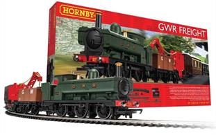 This GWR branch line train set features an 0-6-0 Pannier Tank locomotive with a selection of rolling stock that was typical for the period, including a travelling crane to aid loading.An oval of tgrack with a siding is included along with a mains powered train speed controller and 1600mm x 1180mm TrakMat.