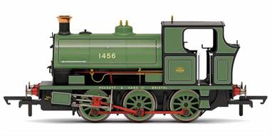 Detailed model of Peckett class B2 0-6-0ST saddle tank shunting engine number 1456 built in 1918 for the Bloxham & Whiston Ironstone company and finished in Peckett lined green livery.