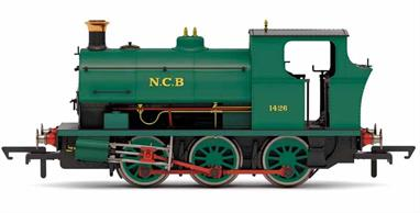 Detailed model of Peckett B2 class 0-6-0 saddle tank engine number 1426, ordered in 1916 by the Glasbrook brothers for shunting at their Garngoch No.3 Colliery (north of Swansea). The engine passed into the ownership of the National Coal Board in 1947 and is modelled in plain green livery.
