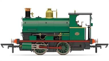 Detailed and smooth running model of the Peckett W4 class 0-4-0 saddle tank shunting engine finished as number 490 built for the Crawshay Brothers in 1890. Model finished in plain green livery.