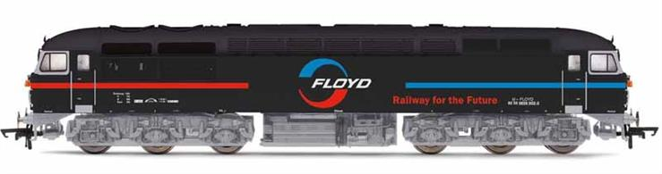 Model of the British Rail class 56 diesel freight locomotive finished as Floyd Zrt. 659 002, formerly 56115, now working in Hungary.Hornby's model of the 56 features a heavy diecast chassis with central motor and highly detailed bodyshell replicating the design changes made during the production of the class.
