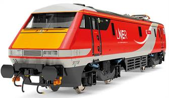 New tool model of the BR class 91 electric locomotives.Model finished as LNER 91118 The Fusiliers in LNER East Coast livery.