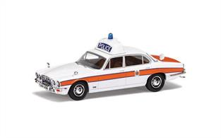 Corgi Vanguard VA13904 is a 1/43rd scale diecast car model of a Jaguar XJ6 (Series 2) 4.2 Thames Valley Police
