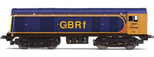 Nicely detailed model of former BR class 20 locomotive 20901, now operated by GB Railfreight and painted in the GBRf blue livery.Hornby Railroad locomotives have less fine detailing, making them ideal as regular layout locomotives and more resistant to handling by younger modellers.
