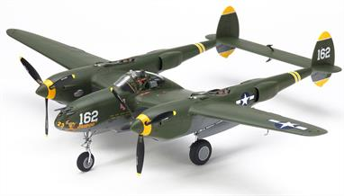 This model kit faithfully recreates the H variant of the Lockheed P-38! This limited-edition variant of the 1/48 P-38 Lightning masterpiece kit, will only be sold in a white box format. New parts are included specifically for this kit to depict the P-38H, a variant which was produced from May 1943 and were given an improved 20mm cannon, as well as a bomb payload capacity of 1,500kg. More powerful 1,400hp engines were paired with intercoolers and radiators from previous variants.