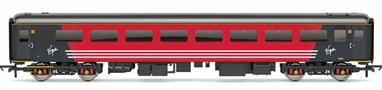 Detailed model of Virgin Trains Mk2F TSO standard class open coach 5945 in Virgin red livery
