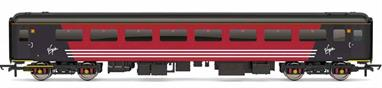Detailed model of Virgin Trains Mk2F TSO standard class open coach 5946 in Virgin red livery
