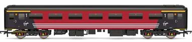 Detailed model of Virgin Trains Mk2F FO first class open coach in Virgin red livery