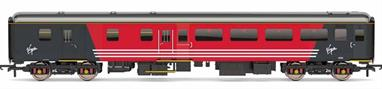 Detailed model of Virgin Trains Mk2F BSO brake standard class open coach 9539 in Virgin red livery