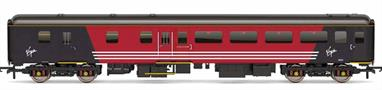 Detailed model of Virgin Trains Mk2F BSO brake standard class open coach 9523 in Virgin red livery