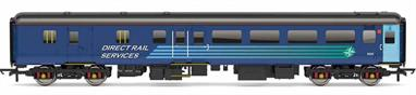 Detailed model of BR air conditioned Mk2F coach 9525. This BSO standard class open brake coach forms part of the DRS passenger fleet used for charter and railtour trains. Model finished in DRS compass livery.