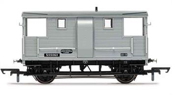 Detailed model of British Railways former Southern Railway goods train brake van S55063. This is a van built by the LSWR, one of many of which remained in service into the 1950s. Model finished in BR goods grey livery