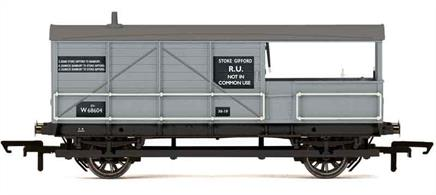 Nicely detailed model of former Great Western Railway diagram AA15 Toad goods train brake van W68604 finished in British Railways goods grey livery.Marked Stoke Gifford RU for use on specific trains operating from the large Stoke Gifford marshalling yard north of Bristol to Banbury and back.