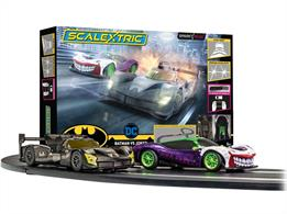 Scalextric C1415 Spark Plug Batman vs Joker Race Set