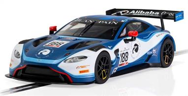 Scalextric C4100 1/32nd Aston Martin Vantage GT3 Garage 59 2019 Slot Car