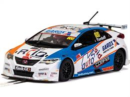 Scalextric C4144 1/32nd Honda Civic Type R BTCC 2019 Sam Tordoff Slot Car