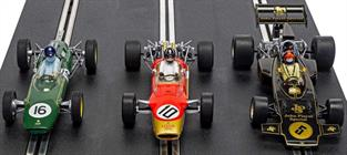 Scalextric C4184A 1/32nd The Genius Of Colin Chapman Lotus F1 Triple Pack Set