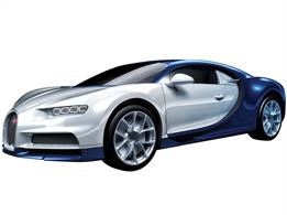 Airfix J6044 Quickbuild Bugatti Chiron Clip together Block ModelNumber of Parts 44   Length 189mm   Width 82mm