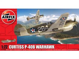 Airfix A01003B 1/72nd Curtiss P-40B Warhawk WW2 Fighter KitNumber of parts 47   Dimensions Length 134.5mm     Wingspan 158mm