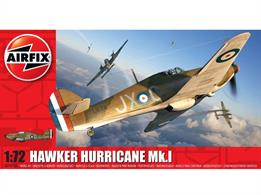 Airfix A01010A 1/72nd Hawker Hurricane Mk1 WW2 Fighter Aircraft KitNumber of Parts 51  Length 133mm  Width 171mm