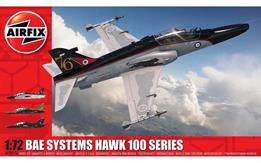Airfix A03073A 1/72nd BAE Hawk 100 Series Aircraft KitNumber of Parts 24   Length 155mm   Wingspan 131mm