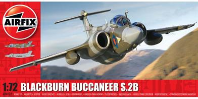 Airfix A06022 1/72nd Blackburn Buccaneer S.2 RAF Bomber Aircraft KitNumber of Parts 141   Length 268mm Wingspan 186mm