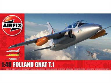 Airfix A05123A 1/48th Folland Gnat T.1 Aircraft KitNumber of Parts 96   Length 182mm   Wingspan 140mm