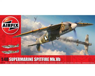 Airfix A05125A 1/48th Supermarine Spitfire MkVB WW2 Fighter Aircraft KitNumber of Parts 143   Length 195mm   Wingspan 234mm