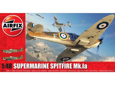 Airfix A05126A 1/48th Supermarine Spitfire Mk.1a WW2 Fighter Aircraft KitNumber of Parts 149   Length 192mm   Wingspan 232mm