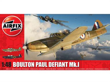 Airfix A05128A 1/48th Boulton Paul Defiant Mk.1 WW2 Fighter Aircraft KitNumber of Parts 106   Length 224mm  Wingspan 249mm