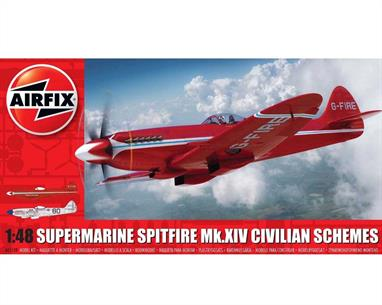 Airfix A05139 1/48th Supermarine Spitfire MkXIV Race Schemes Aircraft KitNumber of Parts 118    Length 195mm    Width 207mm
