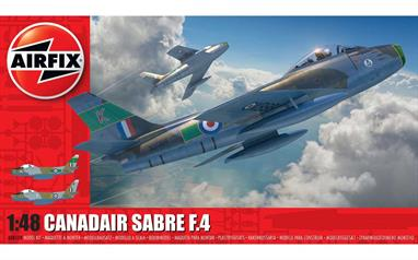 Airfix A08109 1/48th Canadair Sabre F.4 Aircraft KitNumber of Parts     Length 229mm    Width 229mm