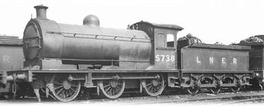 Following on from the J27 model Oxford Rail have announced the production of the earlier and outwardly identical J26, NER class P2 0-6-0 locomotives.5738 is modelled as running in LNER ownership.