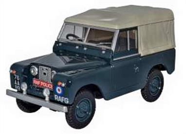 Oxford Diecast 43LR2S004 1/43rd Land Rover Series II SWB Canvas RAF Police