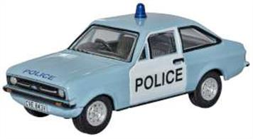 Oxford Diecast 76ESC004 1/76th Ford Escort Mk2 Police