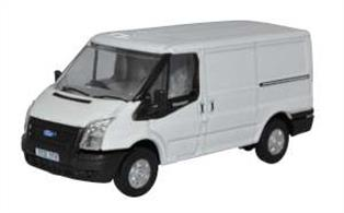 Oxford Diecast 76FT036 1/76th Ford Transit MK5 SWB Low Roof Frozen White