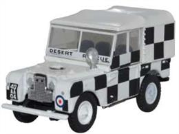 Oxford Diecast 76LAN180009 1/76th Land Rover Series 1 80in Canvas RAF Tripoli Desert Rescue Team
