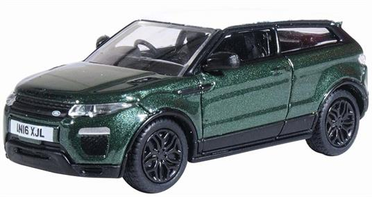 Oxford Diecast 76RRE003 1/76th Range Rover Evoque Coupe (Facelift) Aintree Green