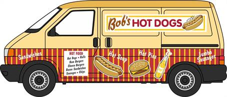 Oxford Diecast 76T4007 1/76th VW T4 Van Bobs Hot Dogs