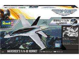 Revell 04965 1/72nd TopGun F/A-18E Super Hornet Aircraft Easy Click KitNumber of Parts 16  Length 223mm   Wingspan 165mm