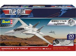 Revell 04966 1/72nd TopGun F-14A Tomcat Aircraft Easy Click KitNumber of Parts 20  Length 277mm   Wingspan 268mm