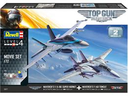 Revell 05677 1/72nd TopGun Aircraft Kits Gift SetF/A-18E Number of Parts 91  Length 254mm   Wingspan 188mmF-14D Number of Parts 111  Length 260mm   Wingspan 268mm
