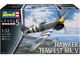 Revell 03851 1/32nd Hawker Tempest V Aircraft KitNumber of Parts 212  Length 321mm   Wingspan 391mm
