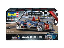 Revell 05682 1/24th Audi R10 TDi Le Mans Car Kit & 3D PuzzleNumber Of Parts 131  Length 195mm