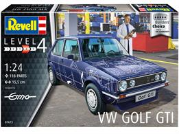 Revell 07673 1/24th VW Golf GTi Builders Choice Car KitNumber Of Parts 118  Length 155mm