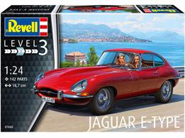 Revell 07668 1/24th Jaguar E-Type Coupe Car KitNumber Of Parts 142  Length 187mm